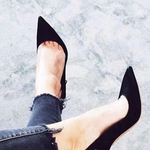 Steven by Steve Madden suede pointy heels pumps